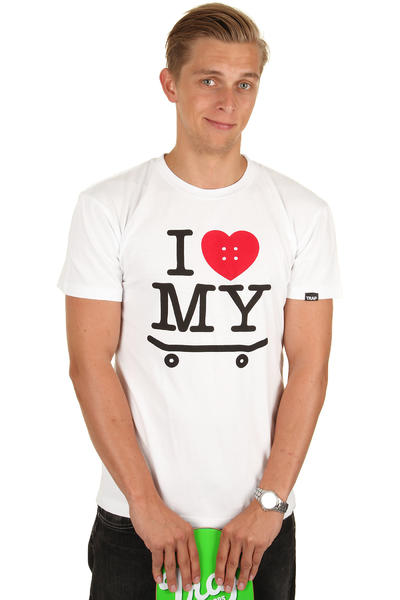 Trap Skateboards I Love My Skateboard T-Shirt (white)
