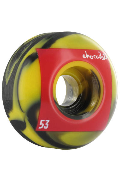 Chocolate Red Square Swirls 53mm Rollen 4er Pack