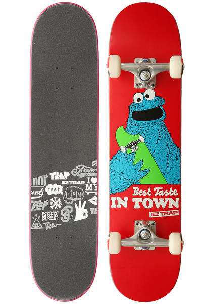 Trap Skateboards Team Design Best Taste 7.5&quot; Komplettboard (red)