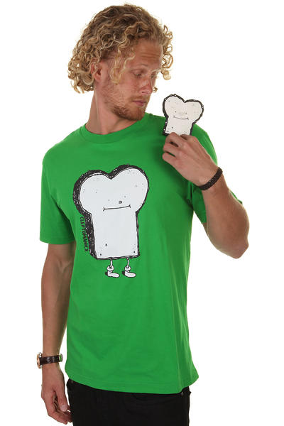 Cleptomanicx Toast T-Shirt (kelly)