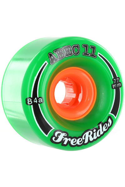 ABEC 11 Classic Freeride 77mm 84a Wheel 4er Pack  (green)
