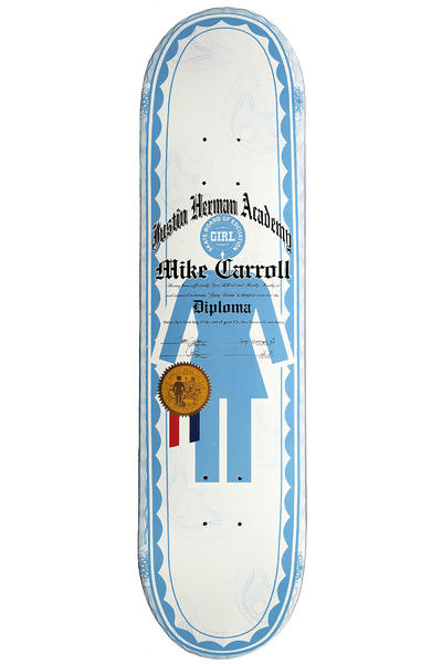 "Girl Carroll Diplomas 8"" Deck (light blue)"