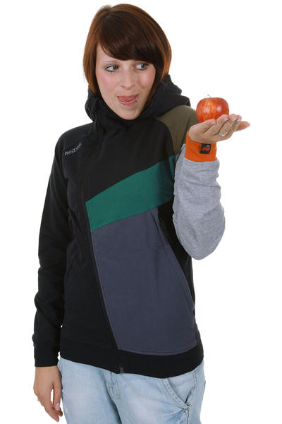 Mazine Crusher Hoodie girls (black used mid grey melange)