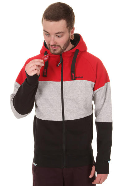 Shisha Dolomiti Zip-Hoodie (dark red black)