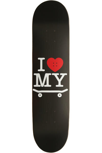 "Trap Skateboards I Love My Board 7.625"" Deck (black)"