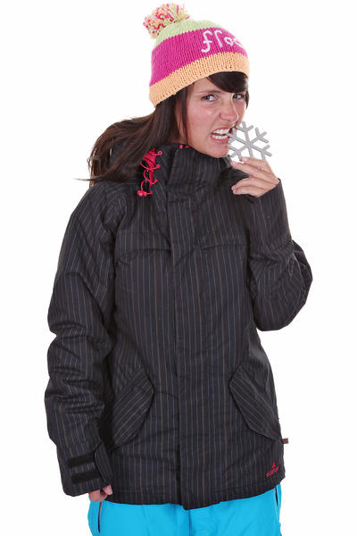 Burton Logan Snowboard Jacke girls (true black gamin pin print)