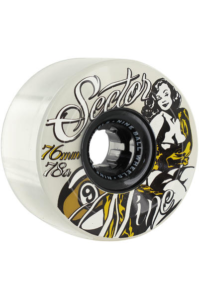 Sector 9 Goddess of Speed 76mm 78A Rollen 4er Pack  (yellow)