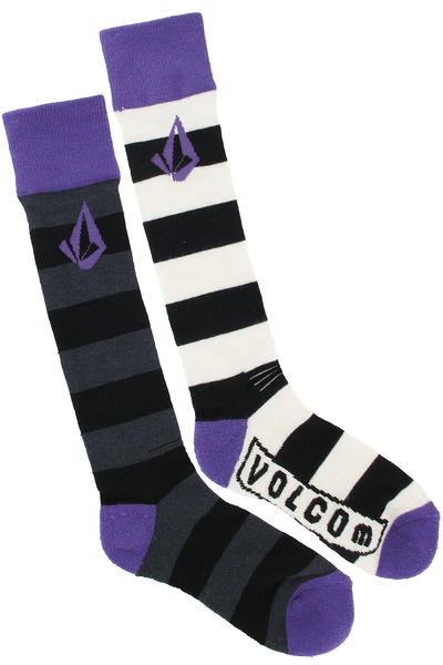 Volcom Status Coolmax Tech Socken US 4,5-10  girls (purple heart)