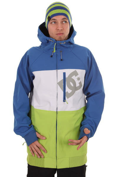 DC Abram Snow Snowboard Jacke (lime green olympian blue)