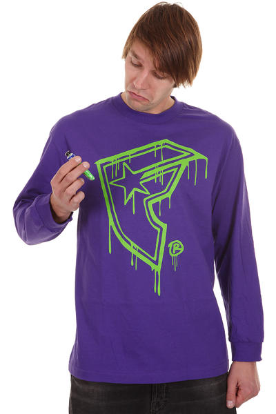 Famous Sloppy Longsleeve (purple lime)