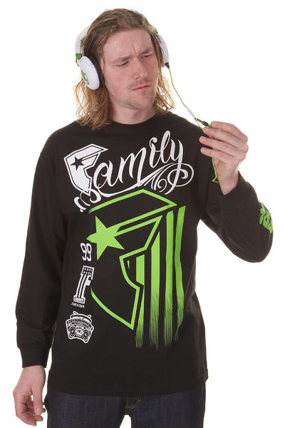 Famous Stripe Rally Longsleeve (black white green)
