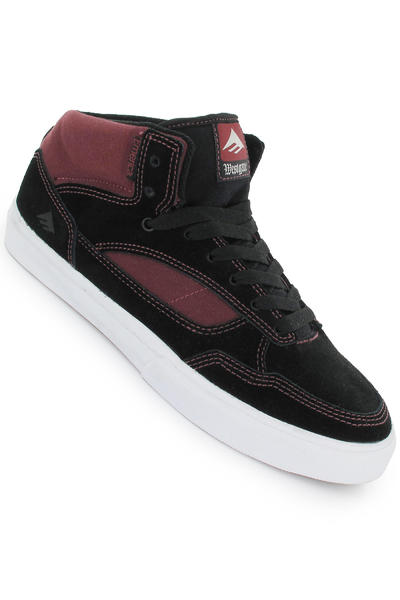 Emerica Westgate Fusion Suede Schuh (black white burgundy)