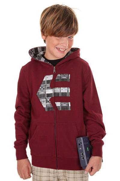 Etnies Icon Fill Zip-Hoodie kids (burgundy)