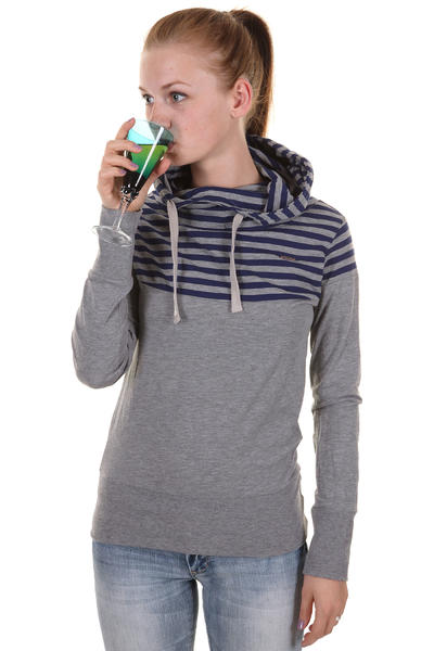 Ragwear Yoda B Hoodie girls (grey melange stripes)