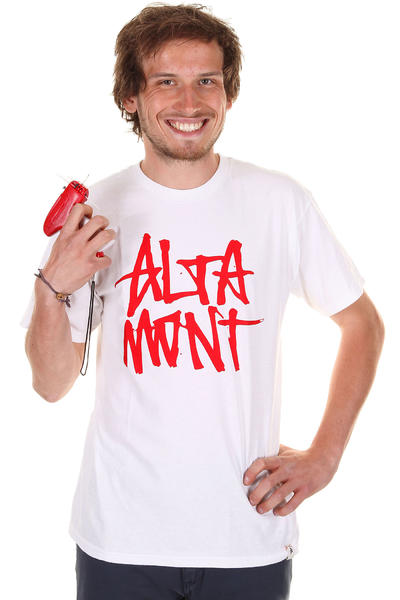 Altamont Stacked T-Shirt (white red)