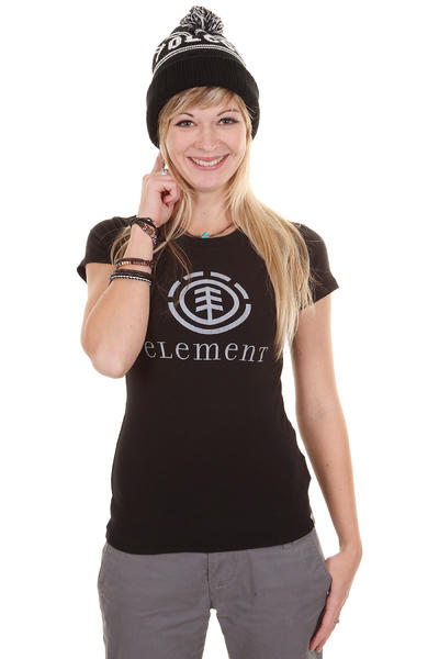 Element Logo SP12 T-Shirt girls (black)