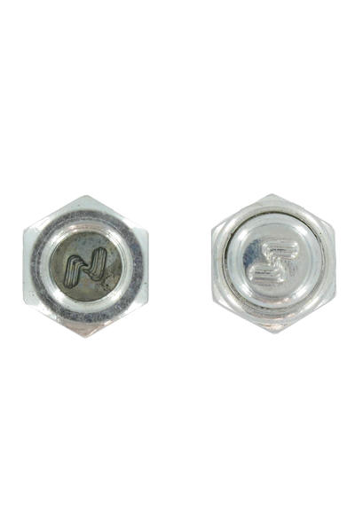 Silver Axlshield Mutter 2er Pack  (silver)