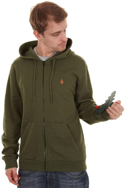 Volcom Icon Slim Stone Age Zip-Hoodie (drab olive)