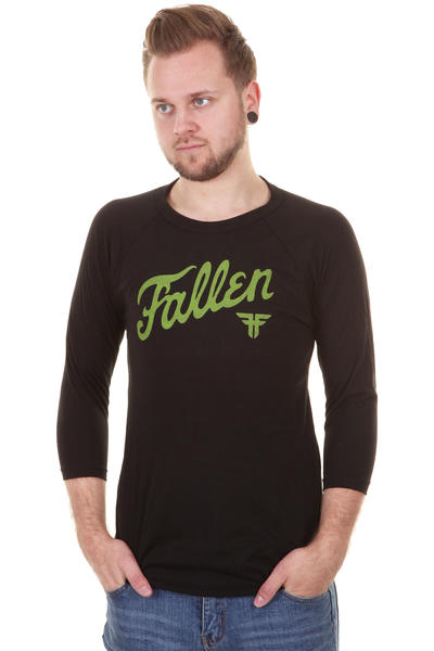 Fallen Fury 3/4 Longsleeve (black black lime)