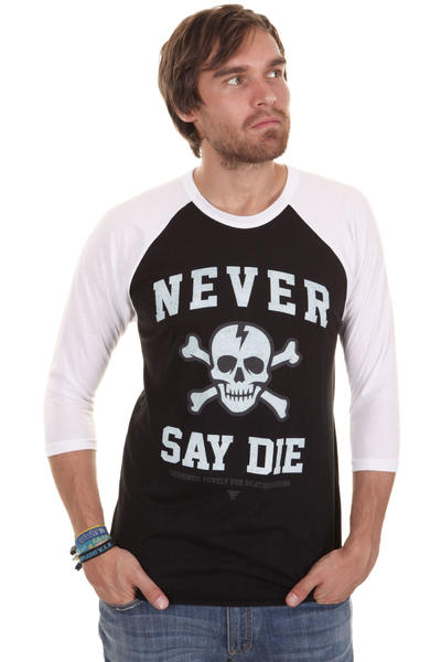 Fallen Never Say Die Longsleeve (black white)