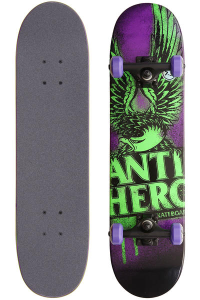 "Anti Hero Drip Eagle 7.3"" Komplettboard kids (purple)"