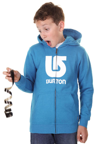 Burton Logo Vertical Zip-Hoodie kids (heather bombay)