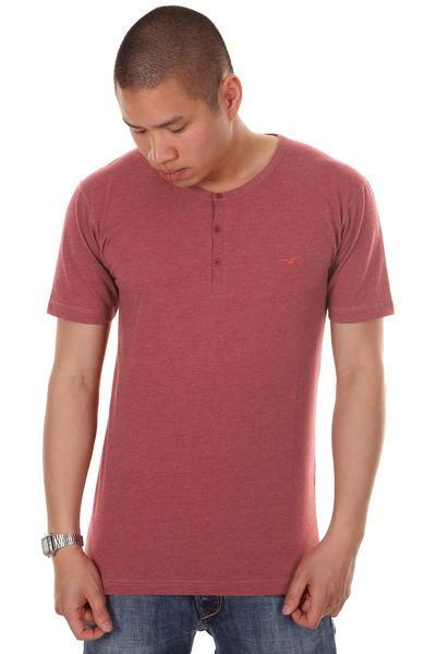 Cleptomanicx Ligull Henley T-Shirt (heather dried tomato)
