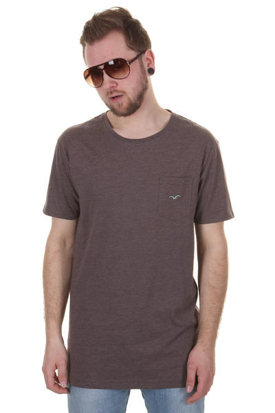Cleptomanicx Ligull Long T-Shirt (heather dark brown)