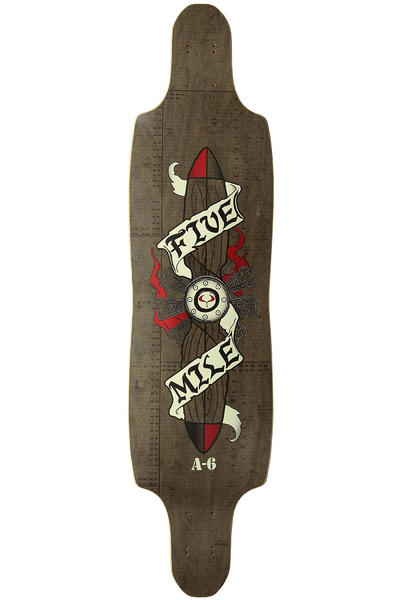 "Five Mile A-6 Intruder 9.75"" x 38"" Longboard Deck"