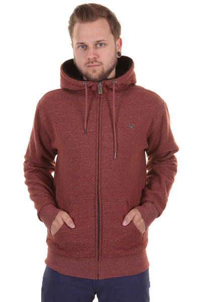Volcom DA Standard Sherpa Zip-Hoodie (orange red)