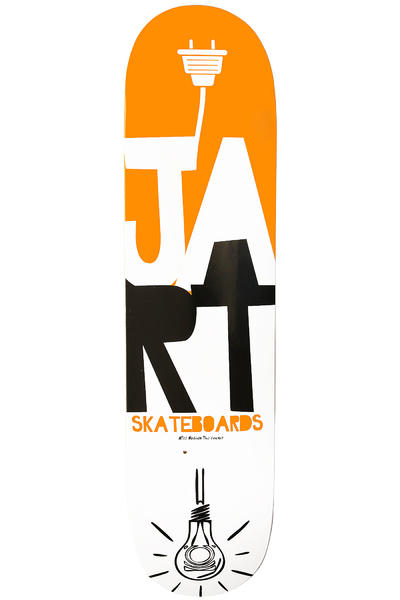 "Jart Skateboards Light Logo 8"" Deck (orange white)"