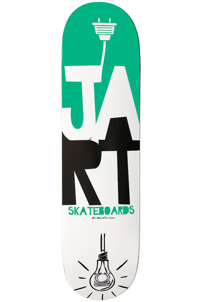 Jart Skateboards Light Logo 8.25&quot; Deck (green white)
