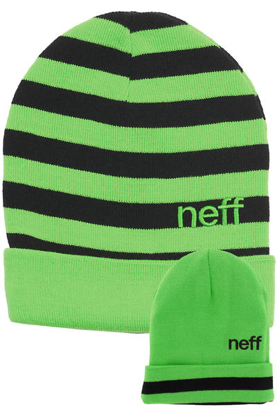 Neff Bumble Beanie reversible  (green black)