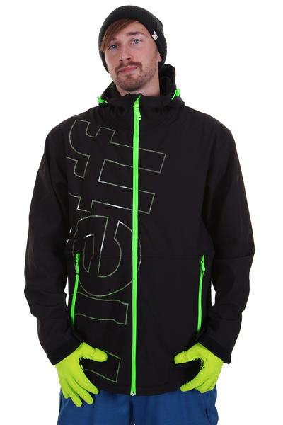 Neff Daily Shell Softshell Snow Zip-Hoodie (black slime)