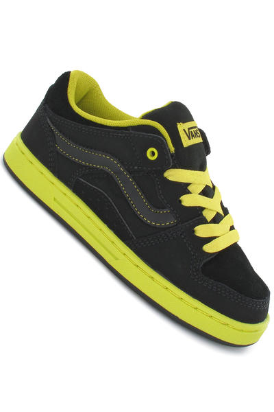 Vans Baxter Suede Canvas Shoe kids (friction black neon green)