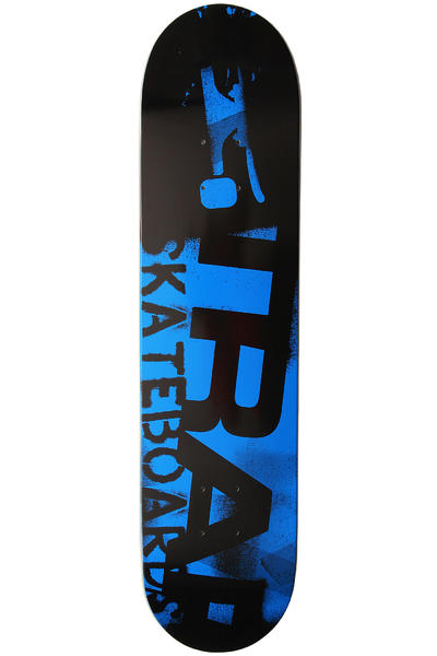 "Trap Skateboards Stencil 7.5"" Deck (black blue)"