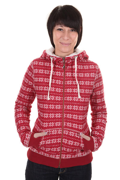 Roxy Revolution Zip-Hoodie girls (lipstick red)
