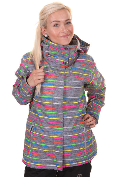 Roxy Jetty Snowboard Jacke girls (new roxy stripe)