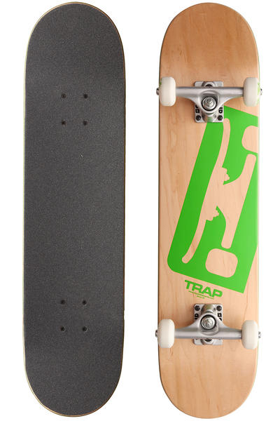 "Trap Skateboards Truck Logo A SP12 7.5"" Komplettboard (natural green)"
