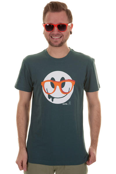 Iriedaily Spectacle Smile T-Shirt (steelblue)