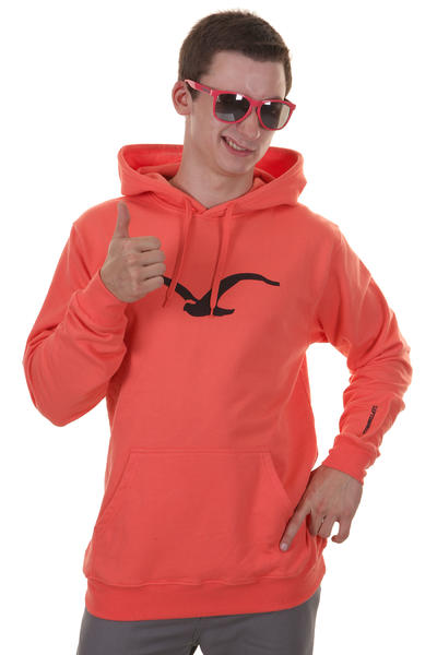 Cleptomanicx Mwe Hoodie (hot coral)