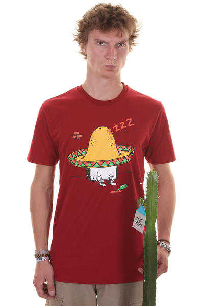 Cleptomanicx Sombrero T-Shirt (dried tomato)