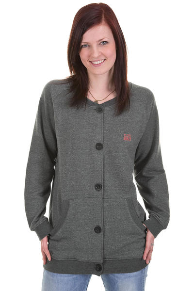 Cleptomanicx Ahso Strickjacke girls (heather dark grey)
