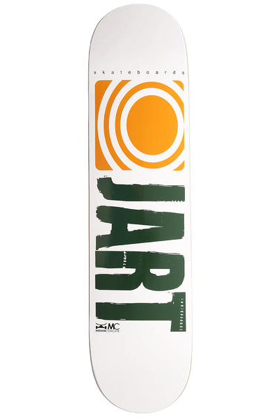 "Jart Skateboards Logo Basic SU12 7.75"" Deck (white yellow)"