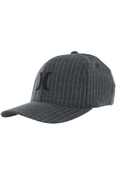 Hurley One &amp; Only Black FlexFit Cap (black stripe)