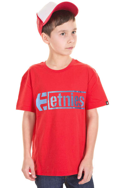 Etnies Stencil Box T-Shirt kids (red blue)
