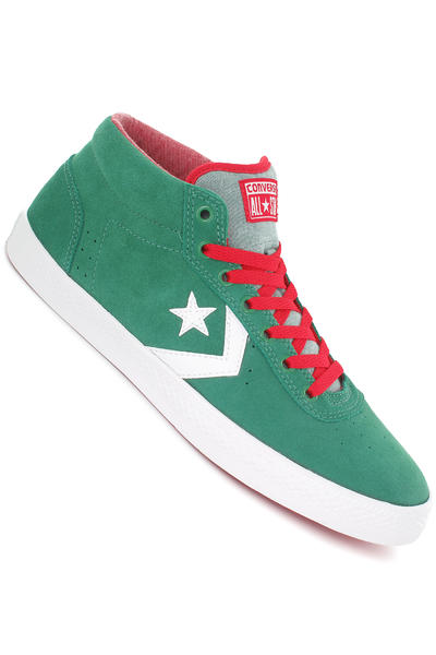 Converse Wells Mid Suede Schuh (pine green white)