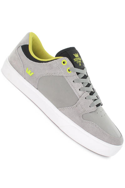 Supra Vaider LC Suede Schuh (grey charcoal lime white)