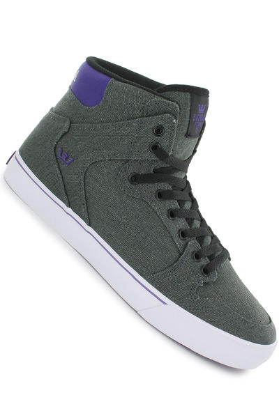 Supra Vaider Canvas Schuh (grey black purple white)