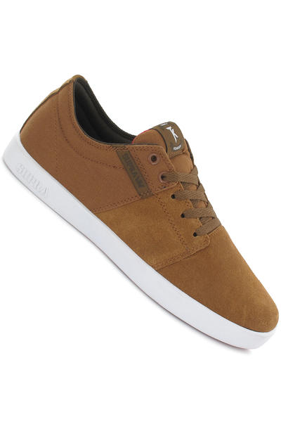 Supra Stacks Suede Schuh (tan white)